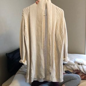 off white knitted cardigan
